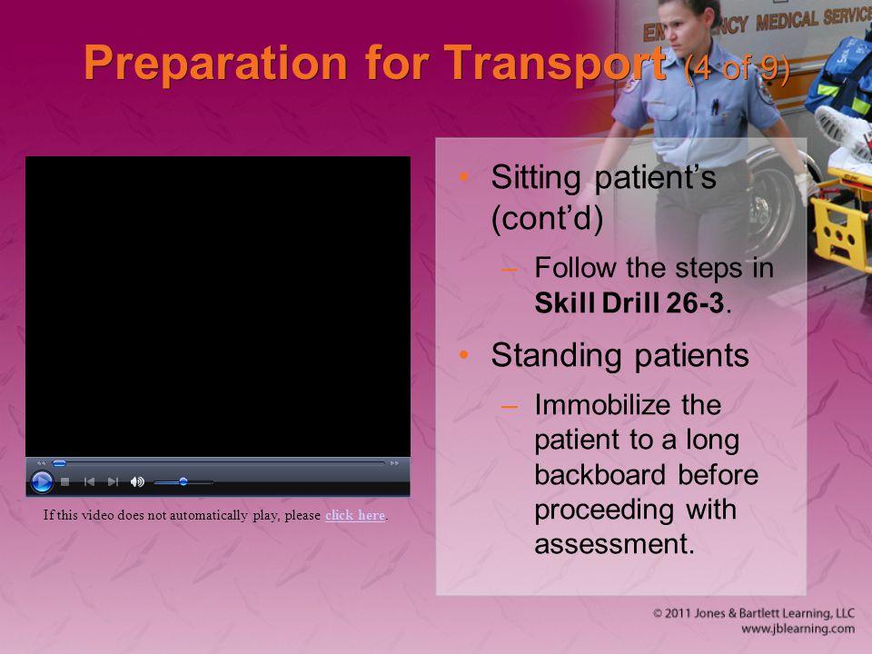Preparation for Transport (4 of 9)
