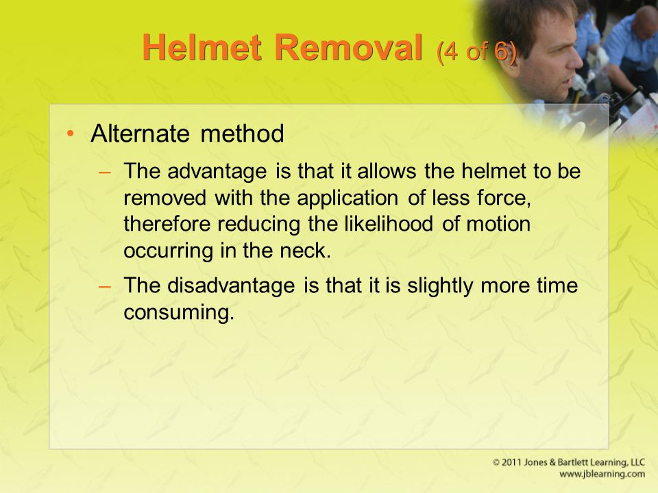 Helmet Removal (4 of 6) Alternate method