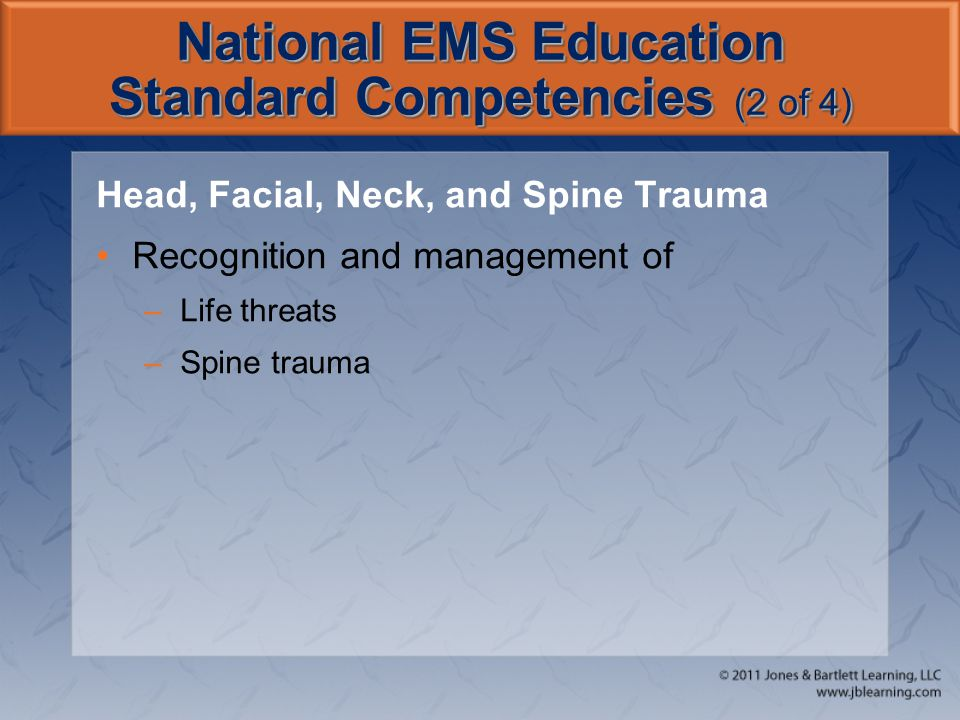National EMS Education Standard Competencies (2 of 4)