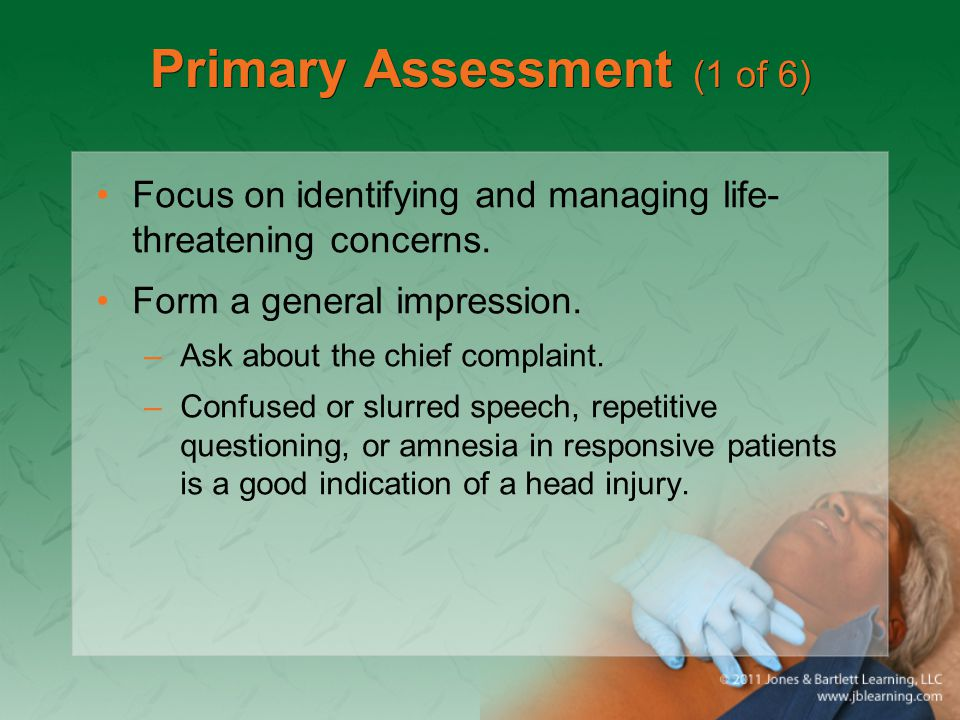 Primary Assessment (1 of 6)