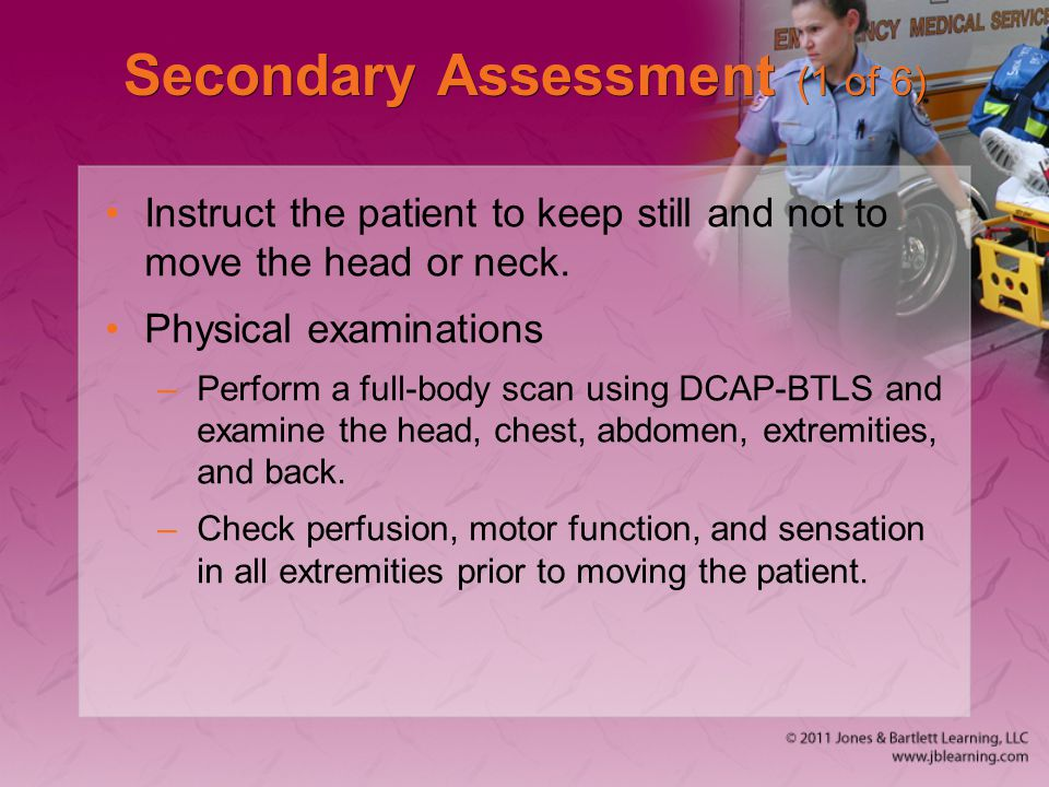 Secondary Assessment (1 of 6)