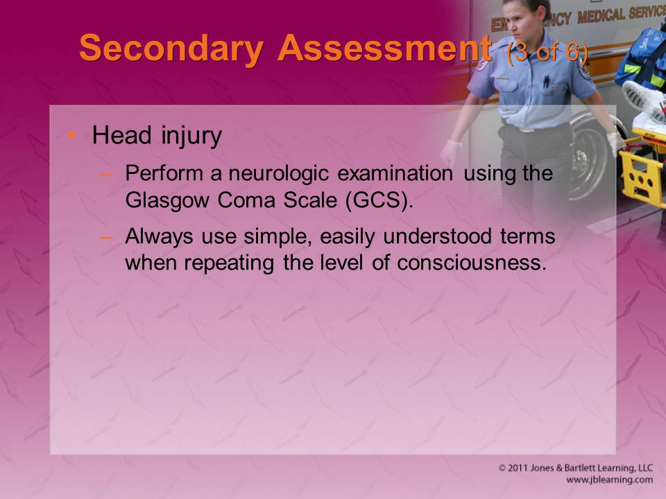 Secondary Assessment (3 of 6)