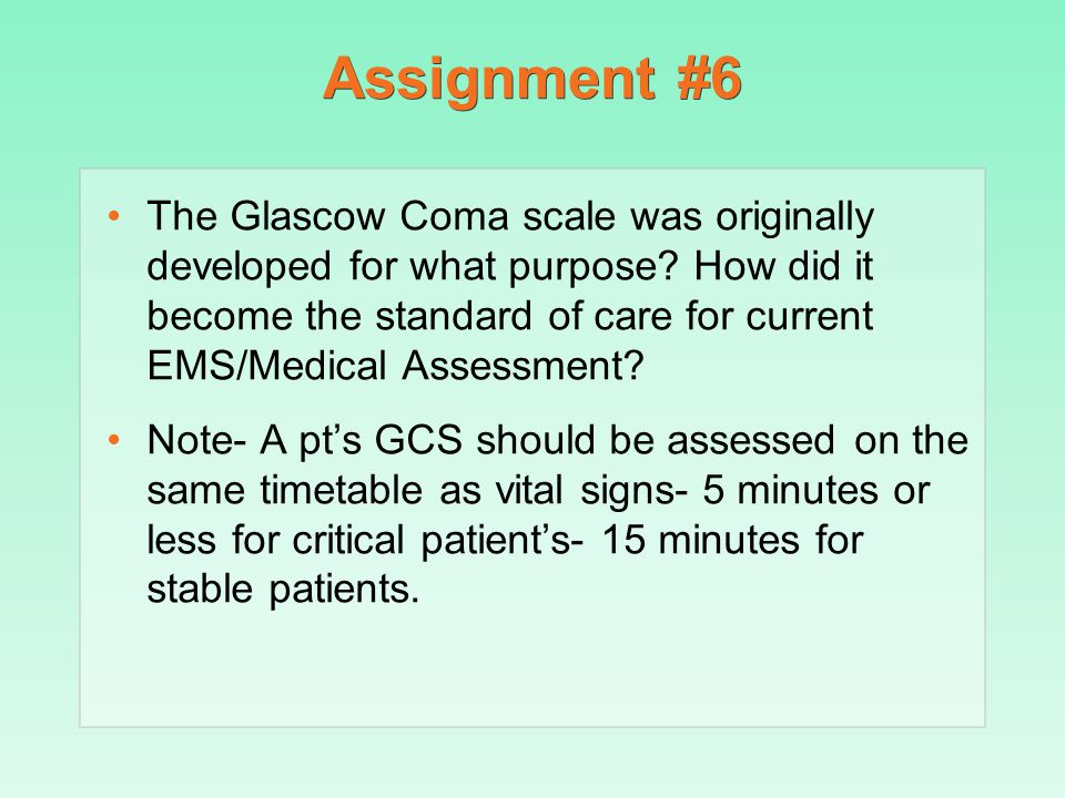 Assignment #6