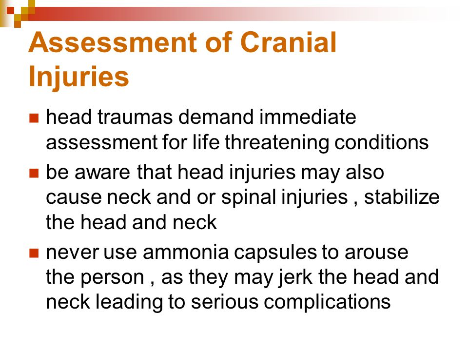 Assessment of Cranial Injuries