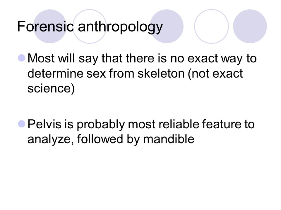 Forensic anthropology