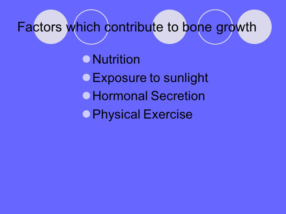 Factors which contribute to bone growth