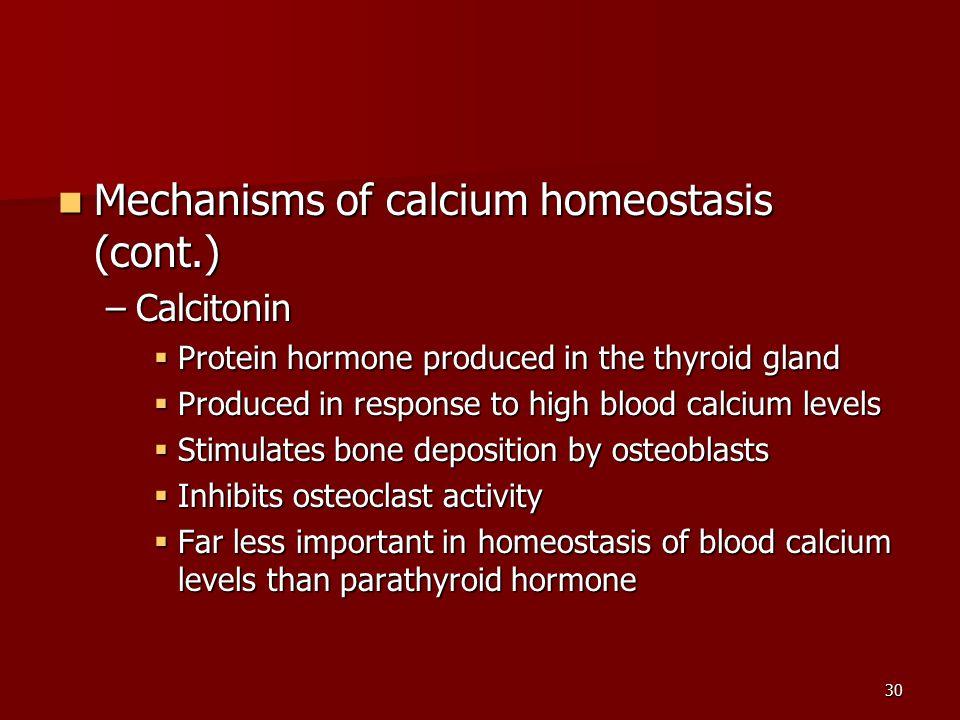 Mechanisms of calcium homeostasis (cont.)