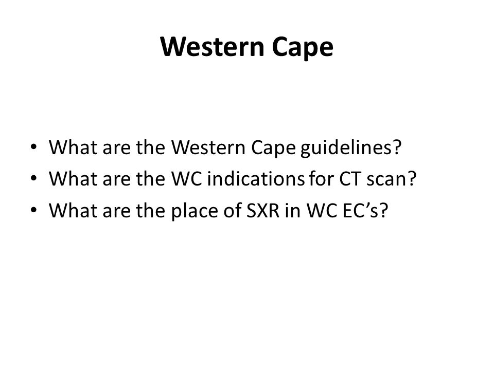 Western Cape What are the Western Cape guidelines