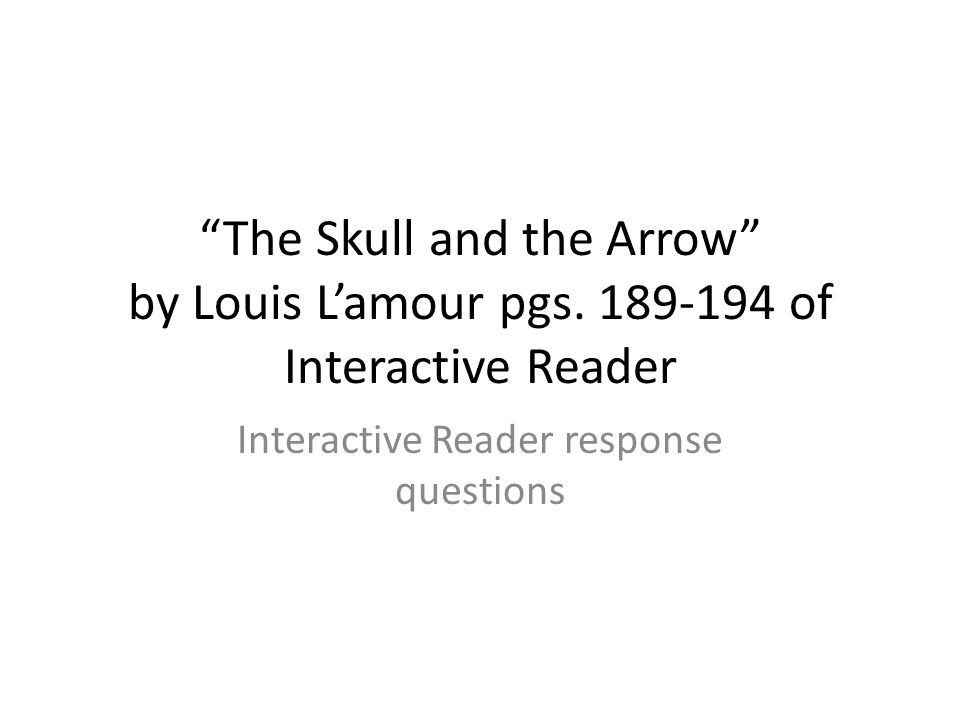 Interactive Reader response questions