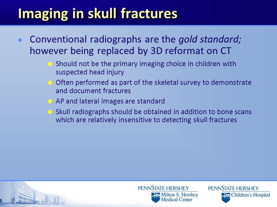 Imaging in skull fractures