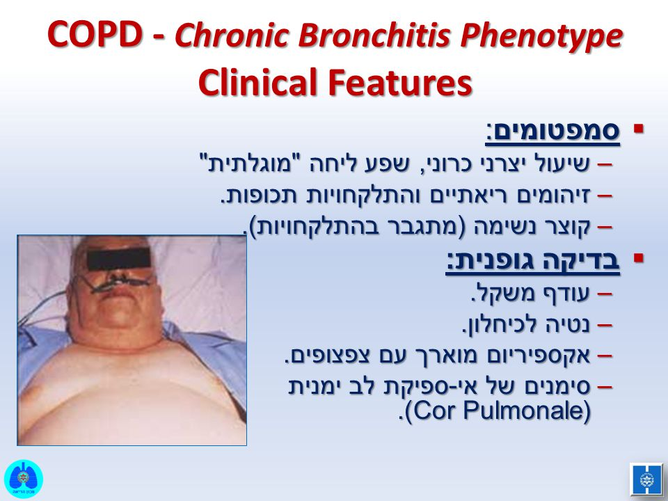 COPD - Chronic Bronchitis Phenotype Clinical Features