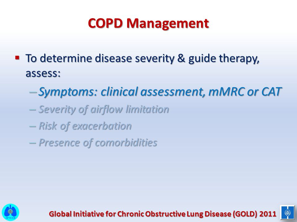 COPD Management Symptoms: clinical assessment, mMRC or CAT