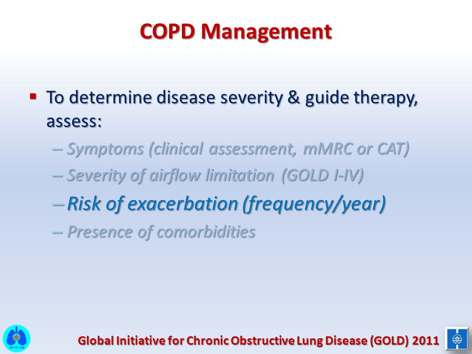 COPD Management Risk of exacerbation (frequency/year)