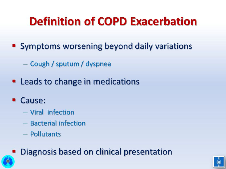 Definition of COPD Exacerbation