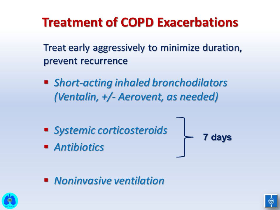 Treatment of COPD Exacerbations