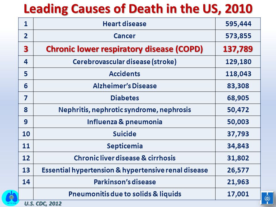 Leading Causes of Death in the US, 2010