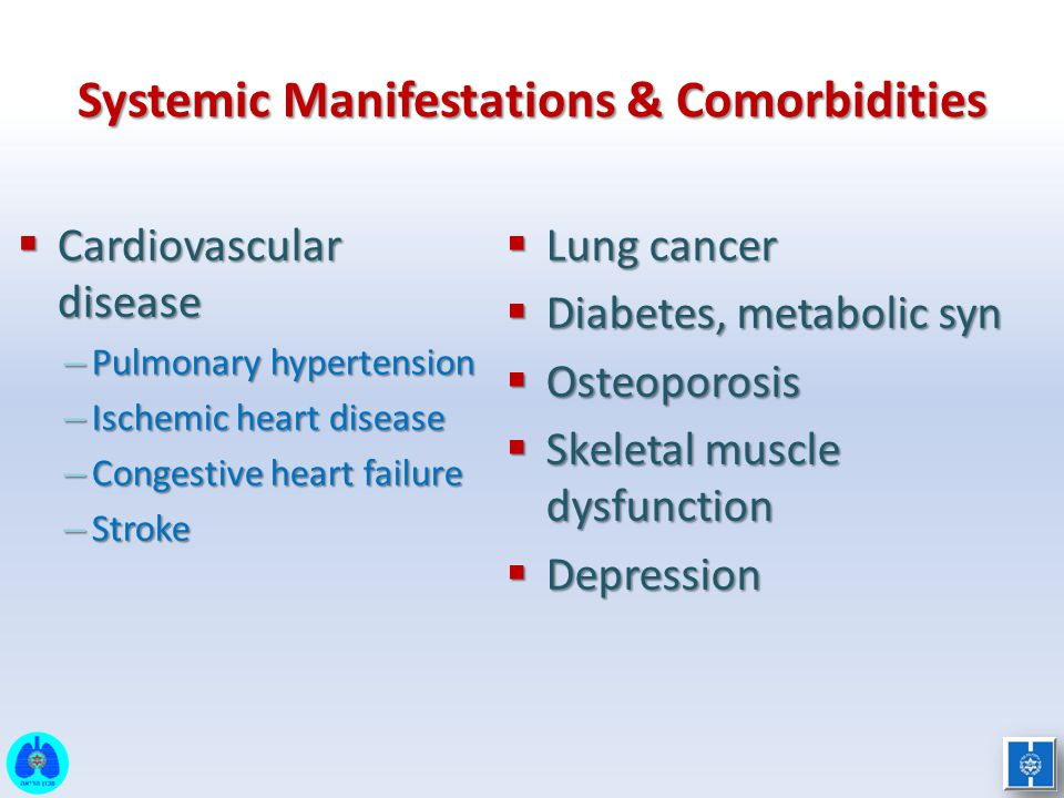 Systemic Manifestations & Comorbidities