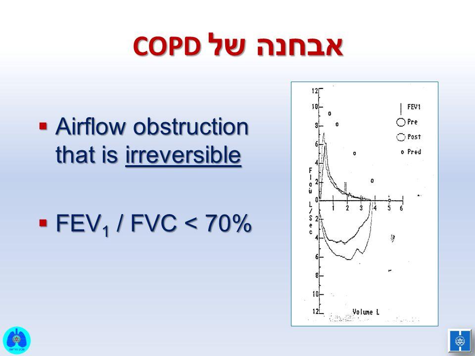 אבחנה של COPD Airflow obstruction that is irreversible