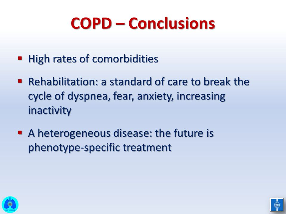 COPD – Conclusions High rates of comorbidities