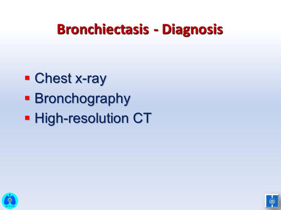 Bronchiectasis - Diagnosis