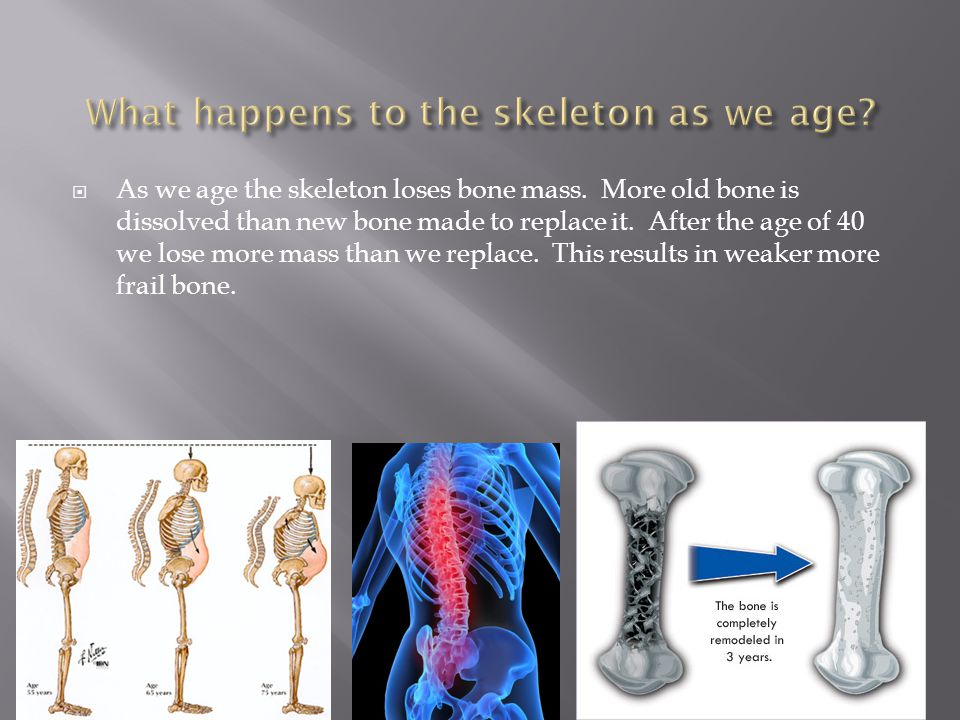 What happens to the skeleton as we age
