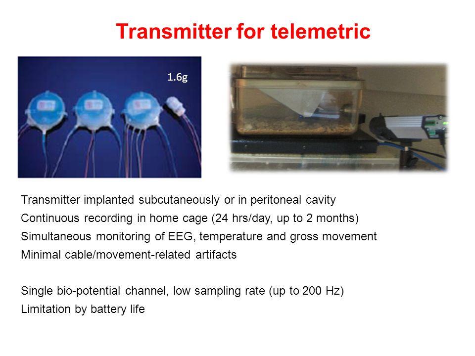 Transmitter for telemetric