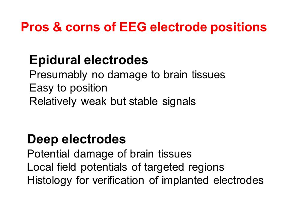 Pros & corns of EEG electrode positions