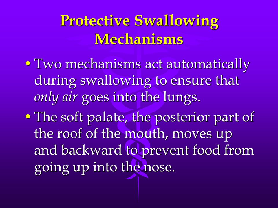 Protective Swallowing Mechanisms