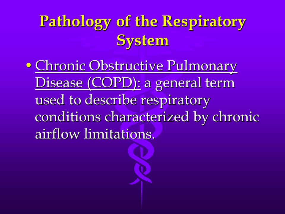 Pathology of the Respiratory System