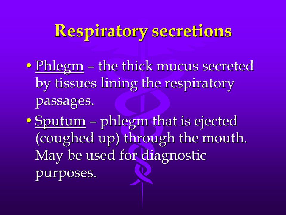 Respiratory secretions