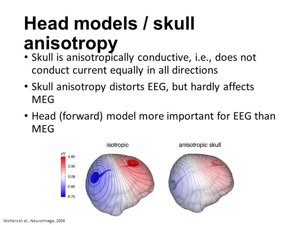Head models / skull anisotropy