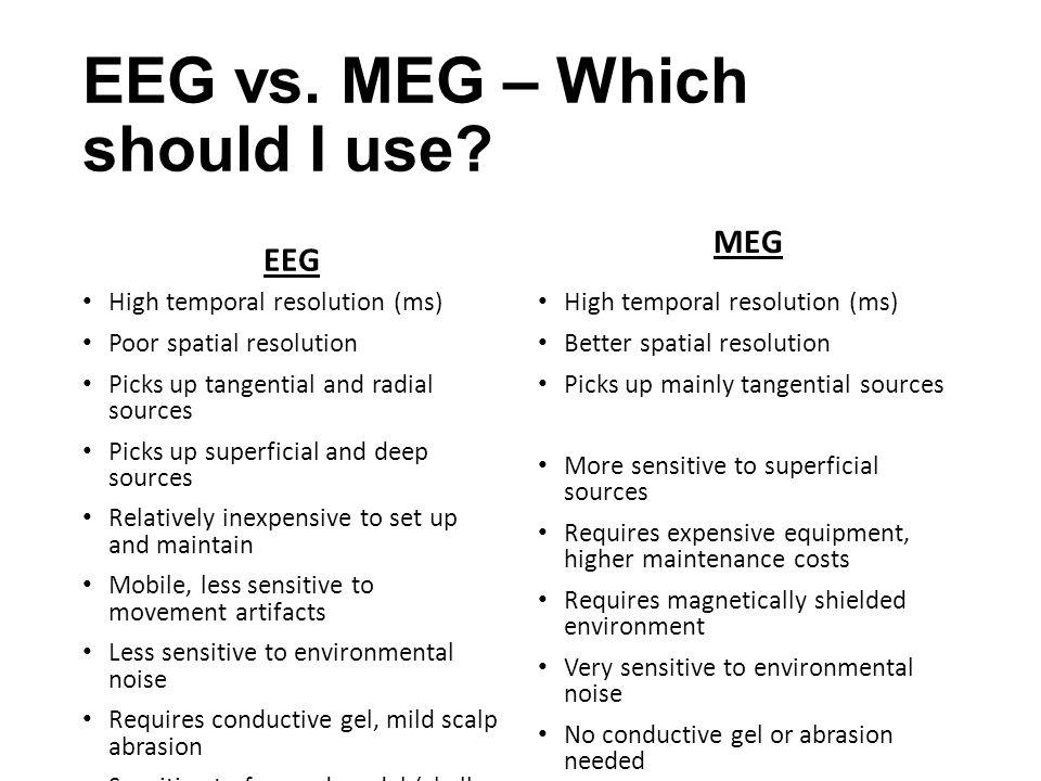 EEG vs. MEG – Which should I use