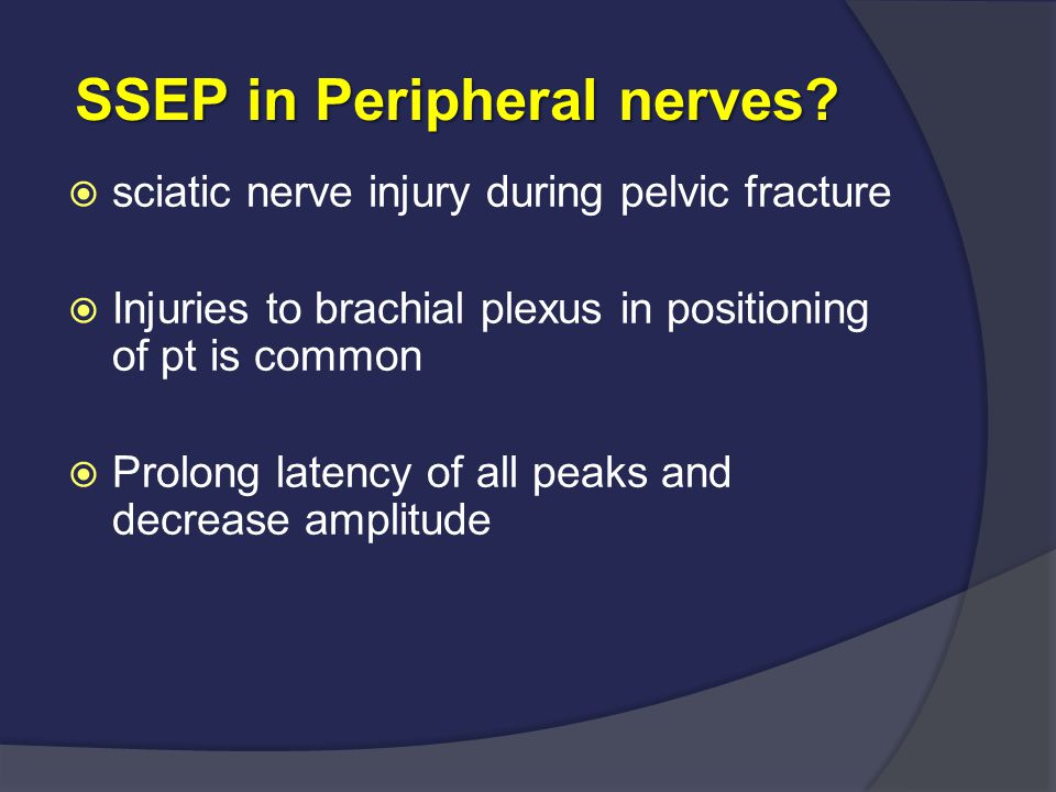 SSEP in Peripheral nerves