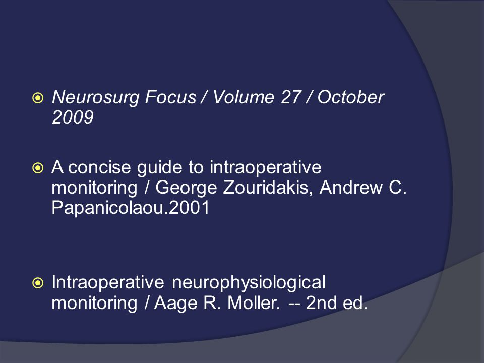 Neurosurg Focus / Volume 27 / October 2009