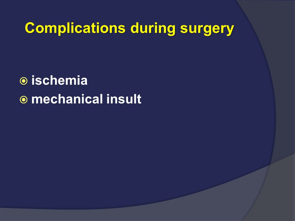 Complications during surgery