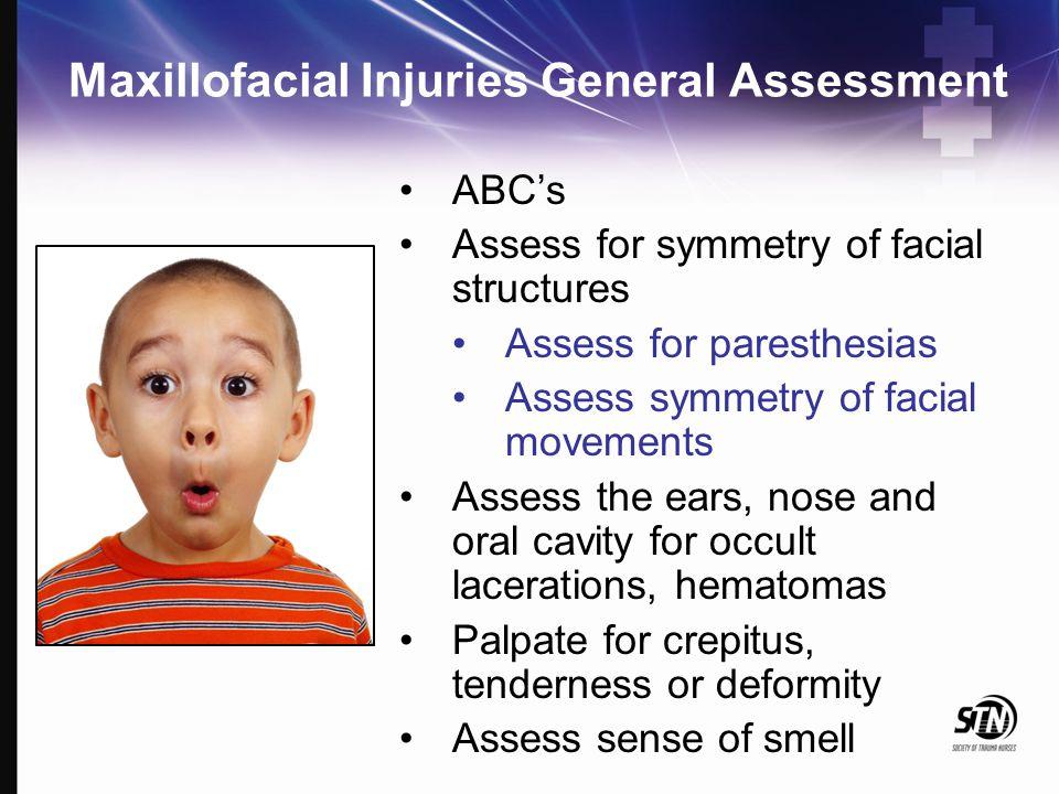 Maxillofacial Injuries General Assessment