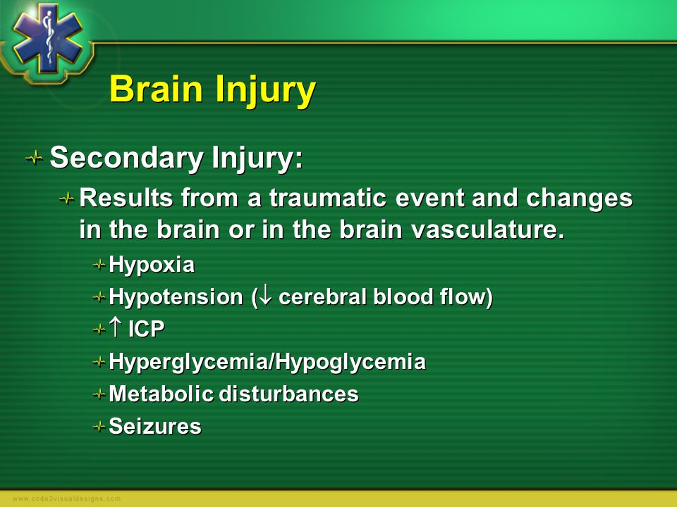 Brain Injury Secondary Injury: