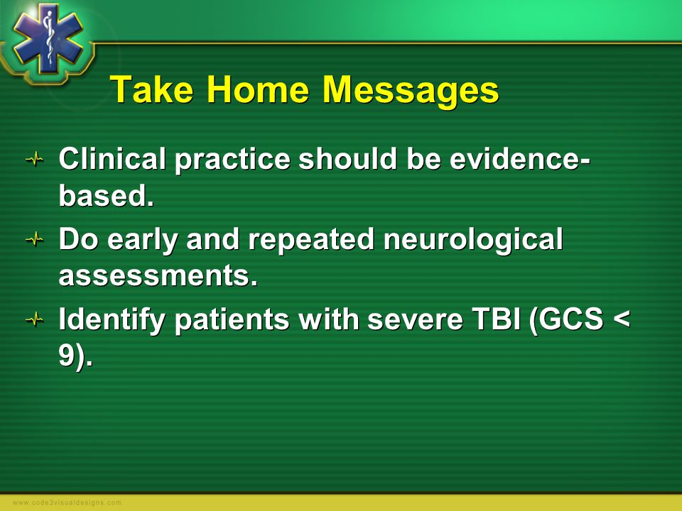 Take Home Messages Clinical practice should be evidence-based.