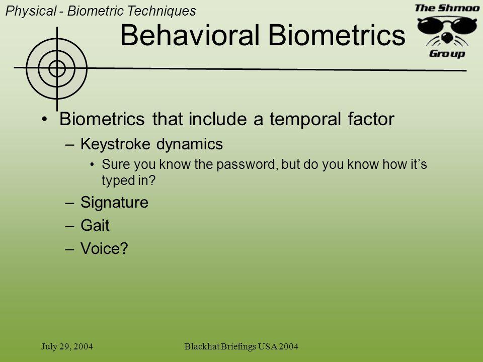 Behavioral Biometrics