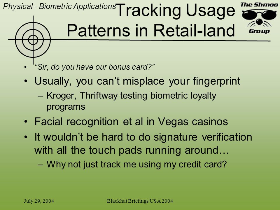Tracking Usage Patterns in Retail-land