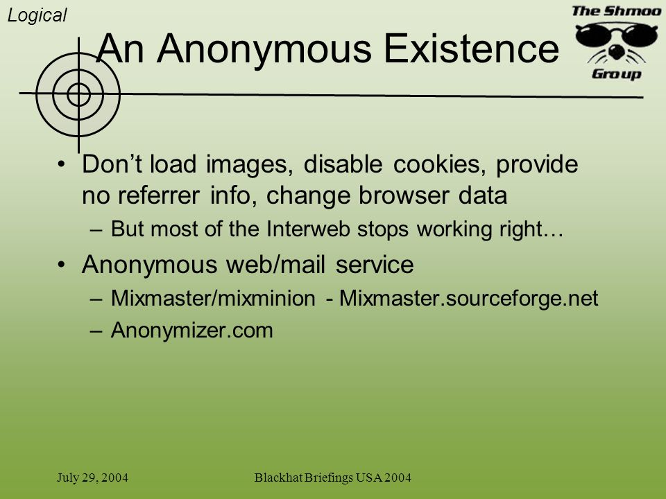 An Anonymous Existence