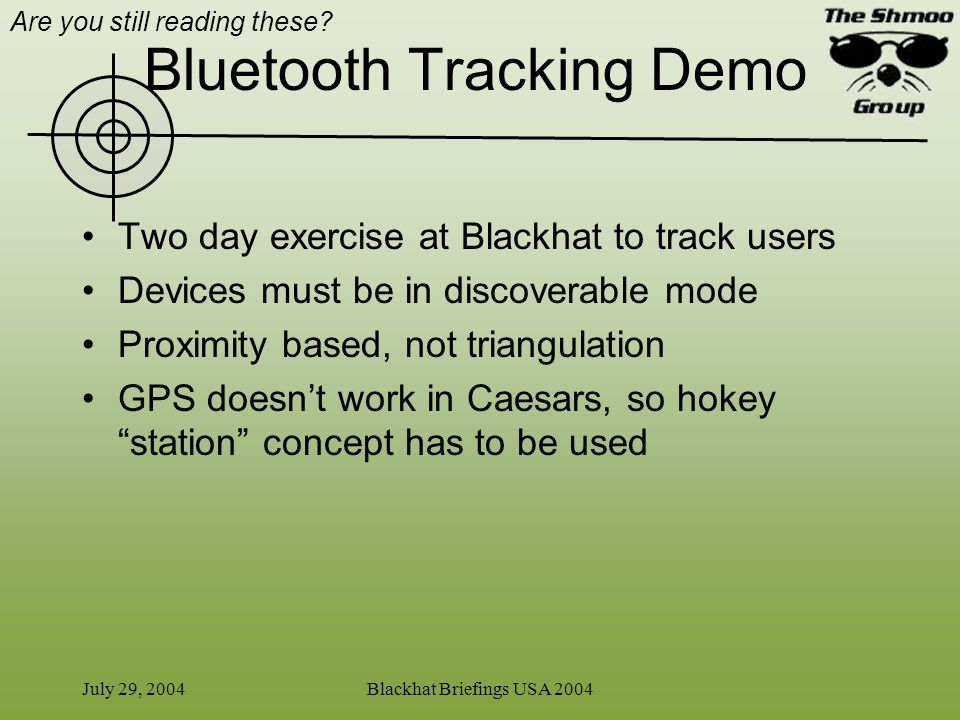 Bluetooth Tracking Demo