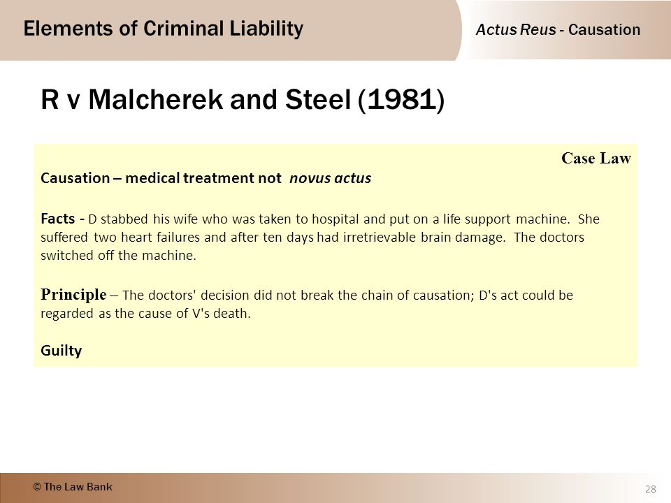 R v Malcherek and Steel (1981)
