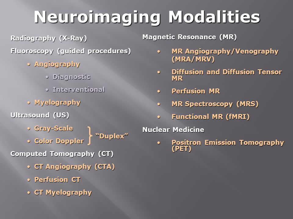 Neuroimaging Modalities