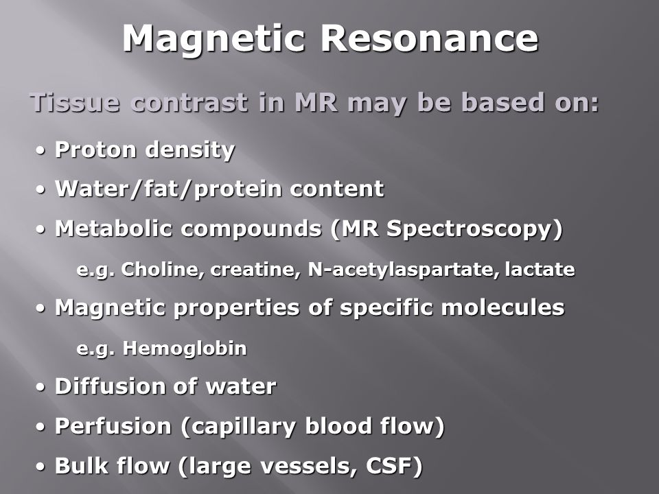 Magnetic Resonance Tissue contrast in MR may be based on: