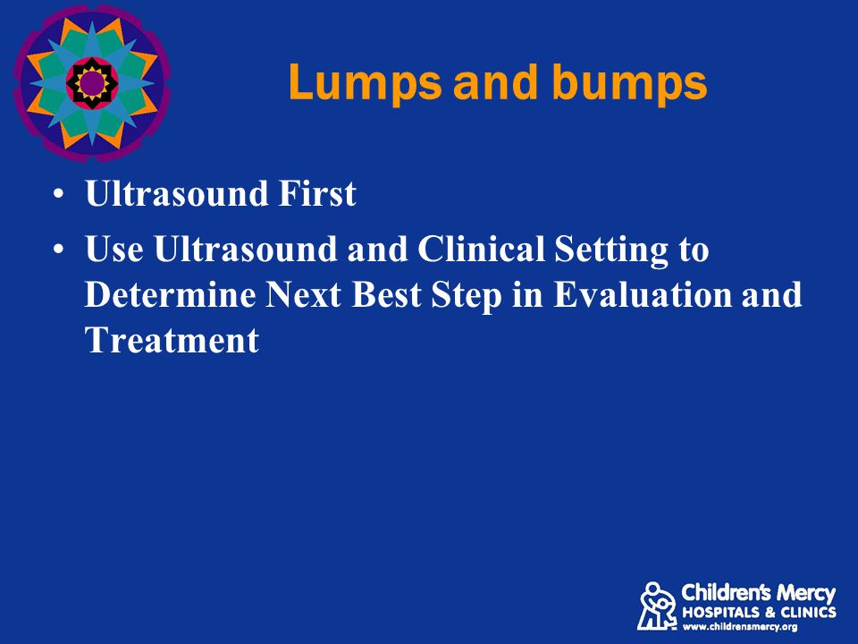 Lumps and bumps Ultrasound First