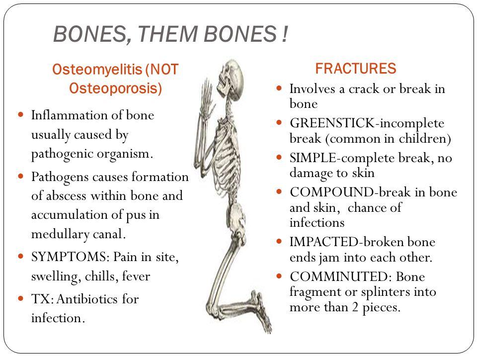Osteomyelitis (NOT Osteoporosis)