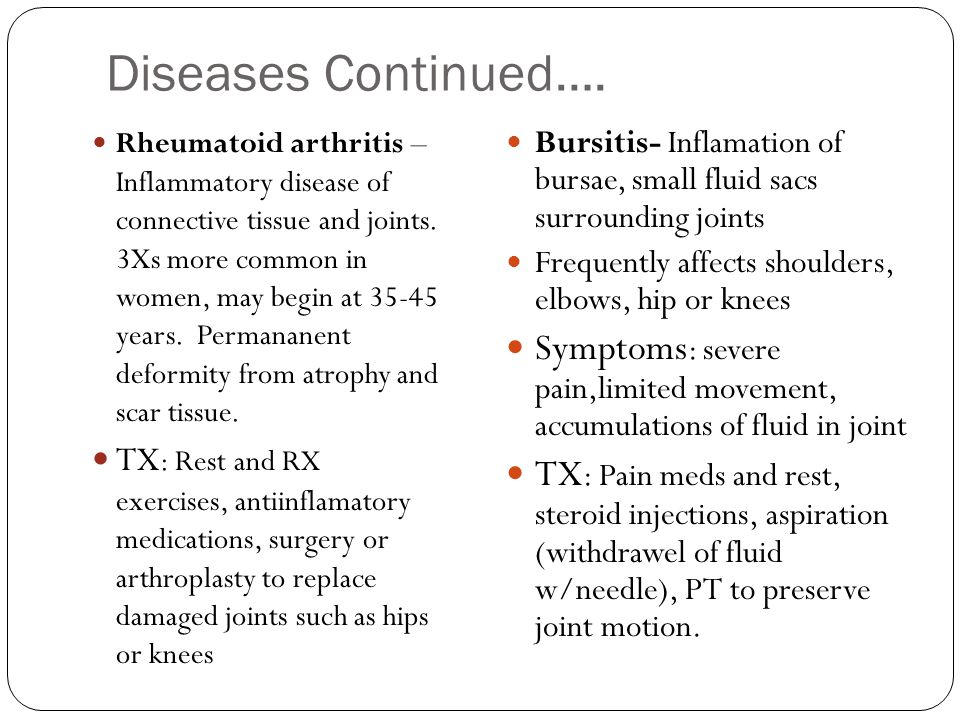 Diseases Continued….