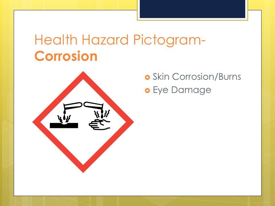 Health Hazard Pictogram- Corrosion