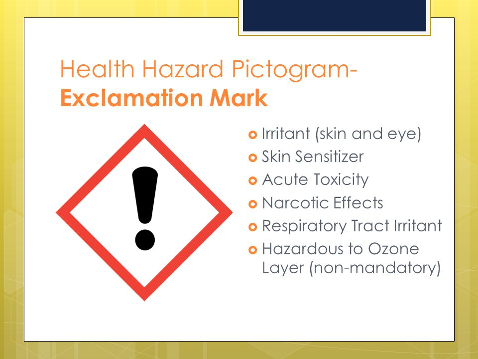 Health Hazard Pictogram- Exclamation Mark